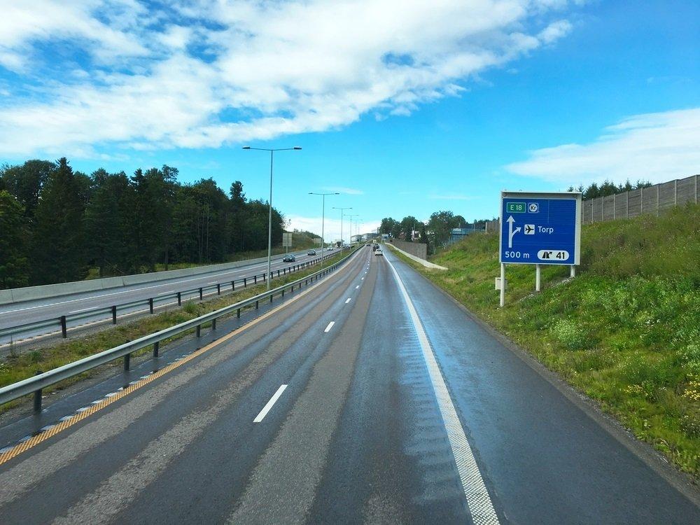 met de auto naar noorwegen