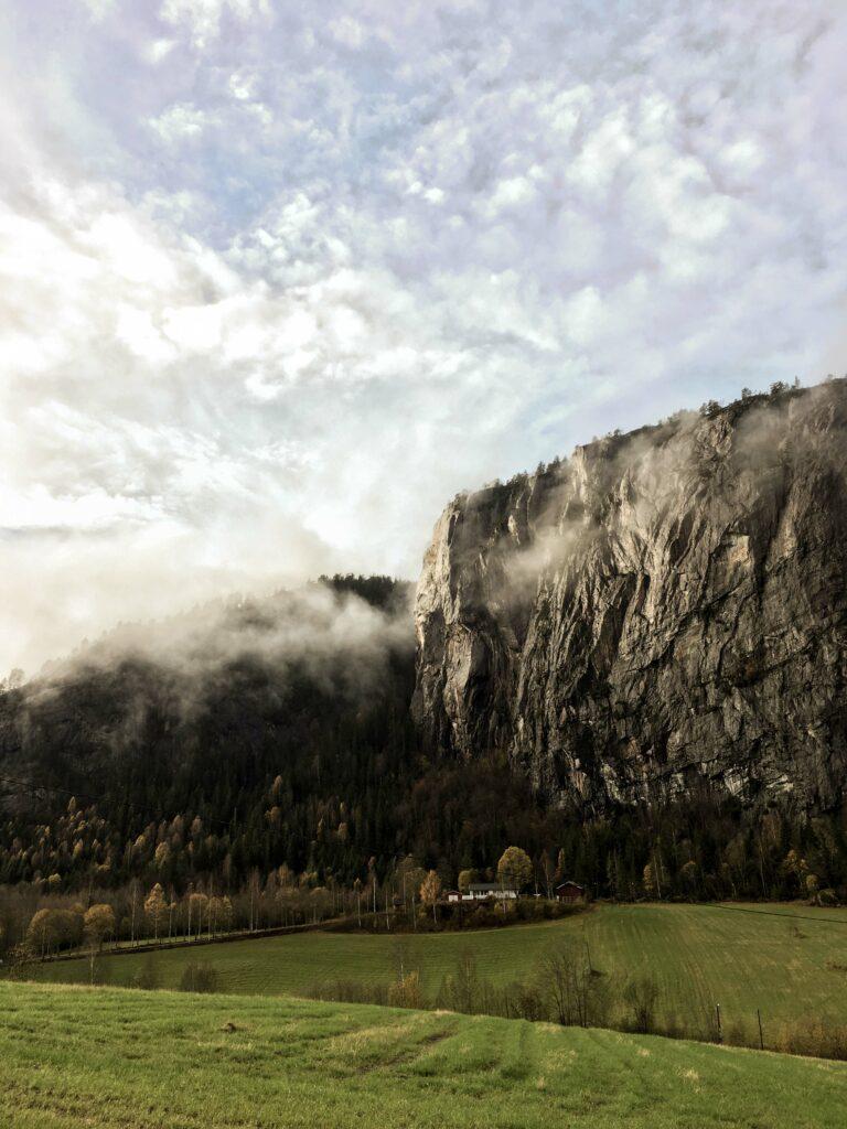 Rotsformatie in Telemark
