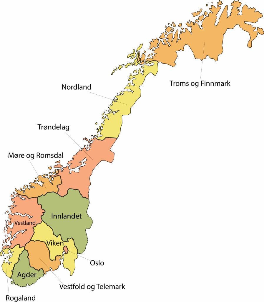 provincies van Noorwegen